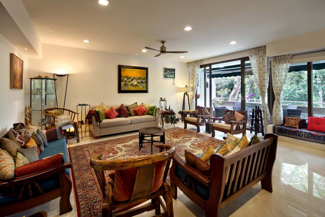 Hillcrest, Yonder, Eclectic, Living Room, Condo, Rug, Chairs, Sofa, Ceiling Fan, Down Light, Marble, Cove Light, Chair, Furniture, Couch, Dining Room, Indoors, Interior Design, Room, Buffet, Cafeteria, Food, Meal, Restaurant, Porch