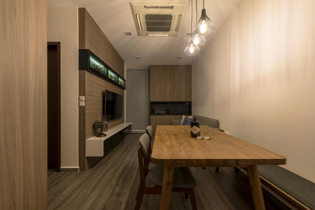 Modern, Condo, Dining Room, Heritage East, Interior Designer, DS 2000 Interior & Design, Couch, Furniture, Dining Table, Table, Chair, Flooring, Plywood, Wood, Indoors, Interior Design, Room