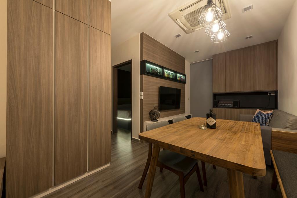 Modern, Condo, Dining Room, Heritage East, Interior Designer, DS 2000 Interior & Design, Dining Table, Furniture, Table, Indoors, Interior Design, Kitchen, Room, Plywood, Wood