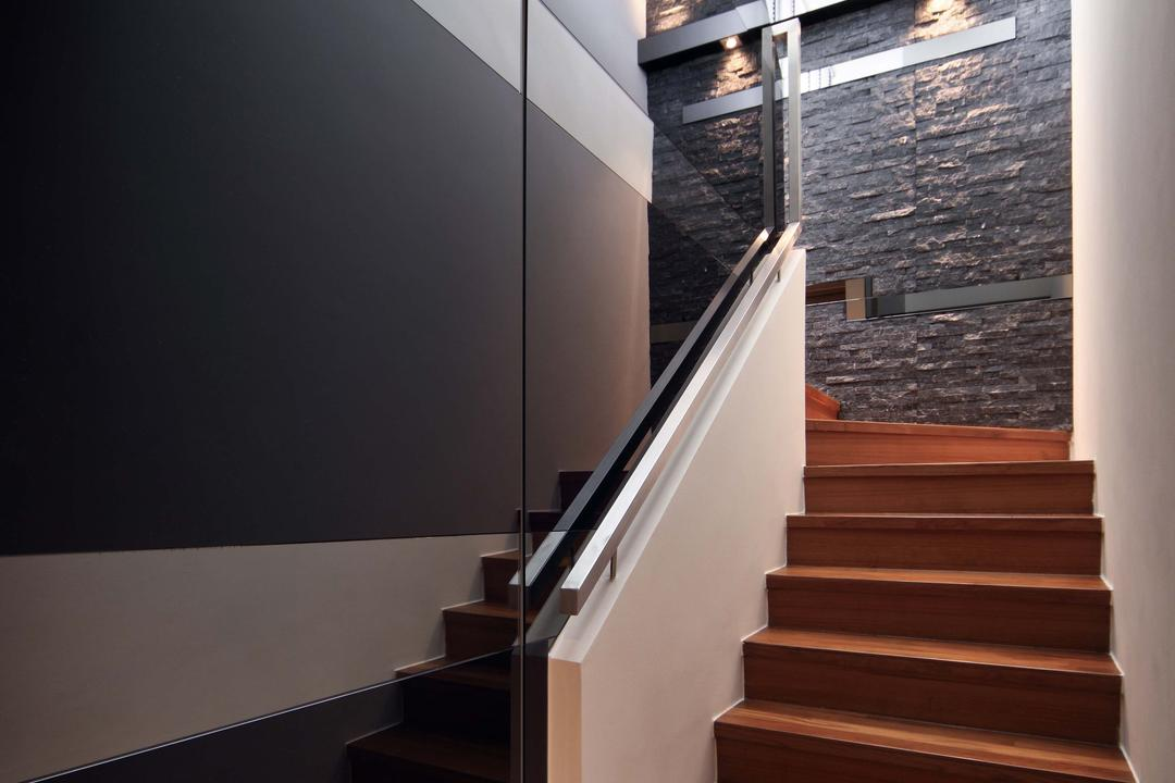 Park Natura, Yonder, Traditional, Contemporary, Condo, Textured Wall, Staurs, Cabinet, Banister, Handrail, Staircase