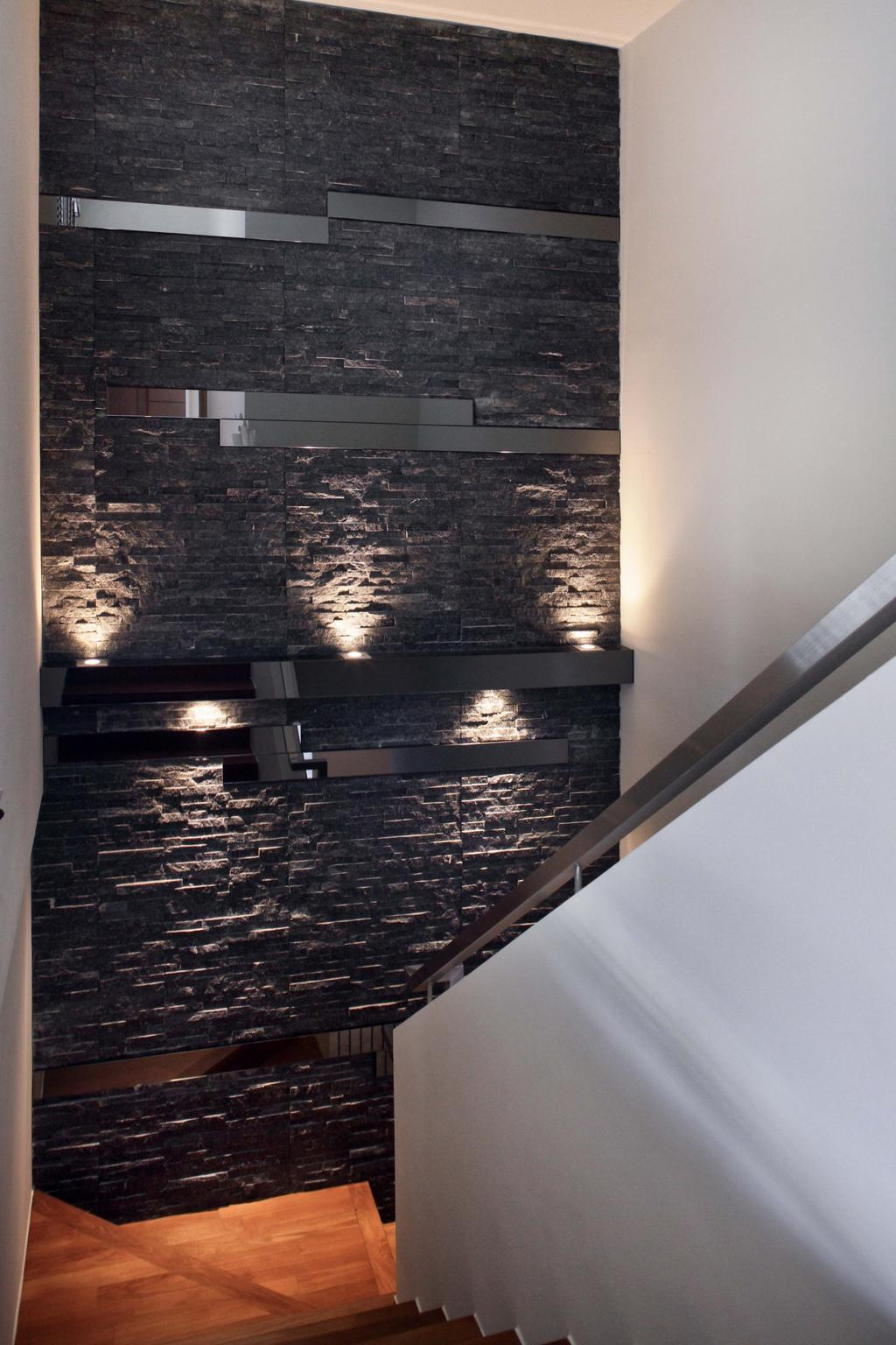 Traditional, Condo, Park Natura, Interior Designer, Yonder, Contemporary, Feature Wall, Textured Wall, Brick Wall, Lights, Stairs, Stairway, Fireplace, Hearth