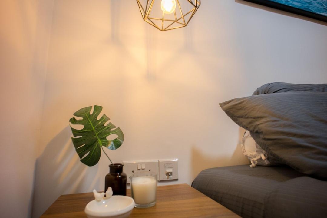 Ghim Moh Link, Team Interior Design, Scandinavian, Bedroom, HDB, Cup, Bed, Furniture, Dining Room, Indoors, Interior Design, Room