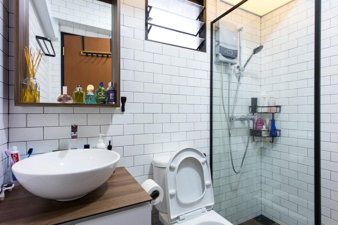 Ghim Moh Link, Team Interior Design, Scandinavian, Bathroom, HDB, Bottle, Indoors, Interior Design, Room