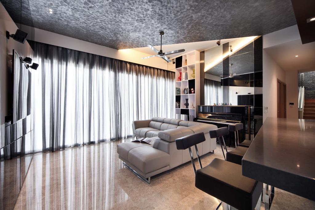 Traditional, Condo, Living Room, Park Natura, Interior Designer, Yonder, Contemporary, Ceiling Fan, Feature Ceiling, Sofa, Tc, Feature Wall, Piano Shleving, Bar Table, Bar Chair, Chair, Furniture, HDB, Building, Housing, Indoors, Loft, Room, Restaurant