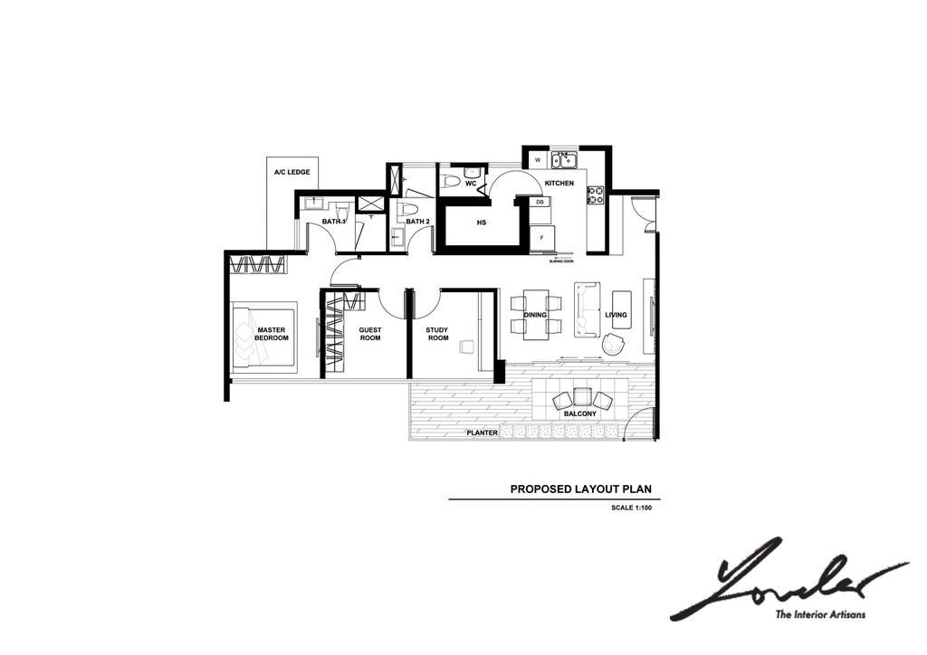 Contemporary, Condo, Scala, Interior Designer, Yonder, Floor Plan, Autograph, Handwriting, Signature, Text, Diagram, Plan