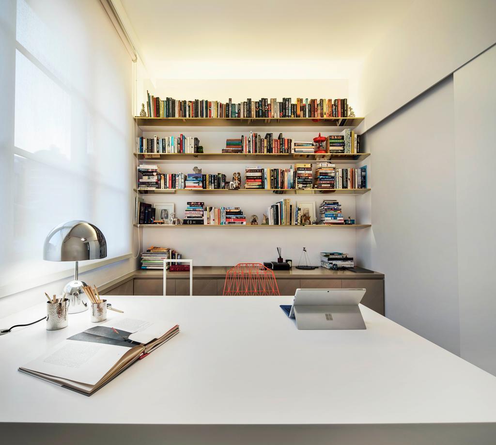Minimalist, Condo, Study, Mono Apartment, Architect, UPSTAIRS_, Contemporary, Pantry, Shelf