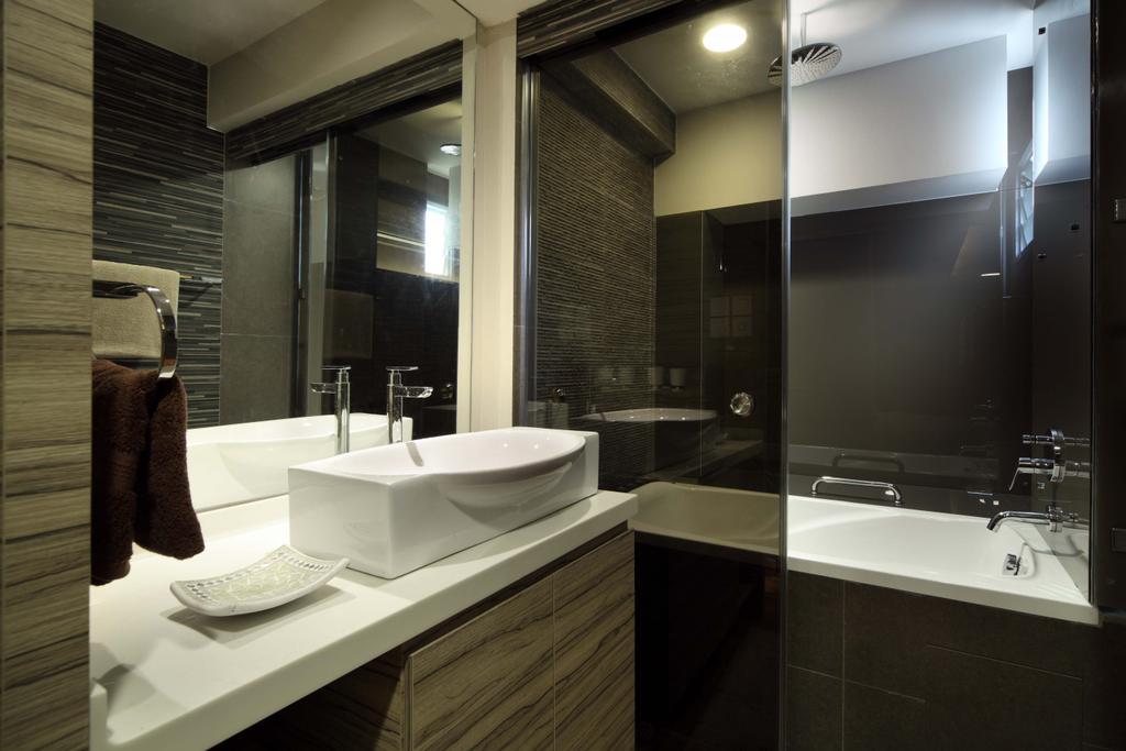 Traditional, HDB, Bathroom, Bukit Merah, Interior Designer, Yonder, Sink, Cabinet, Shower Screen, Bath Tub, Shower, Down Light, Indoors, Interior Design, Room