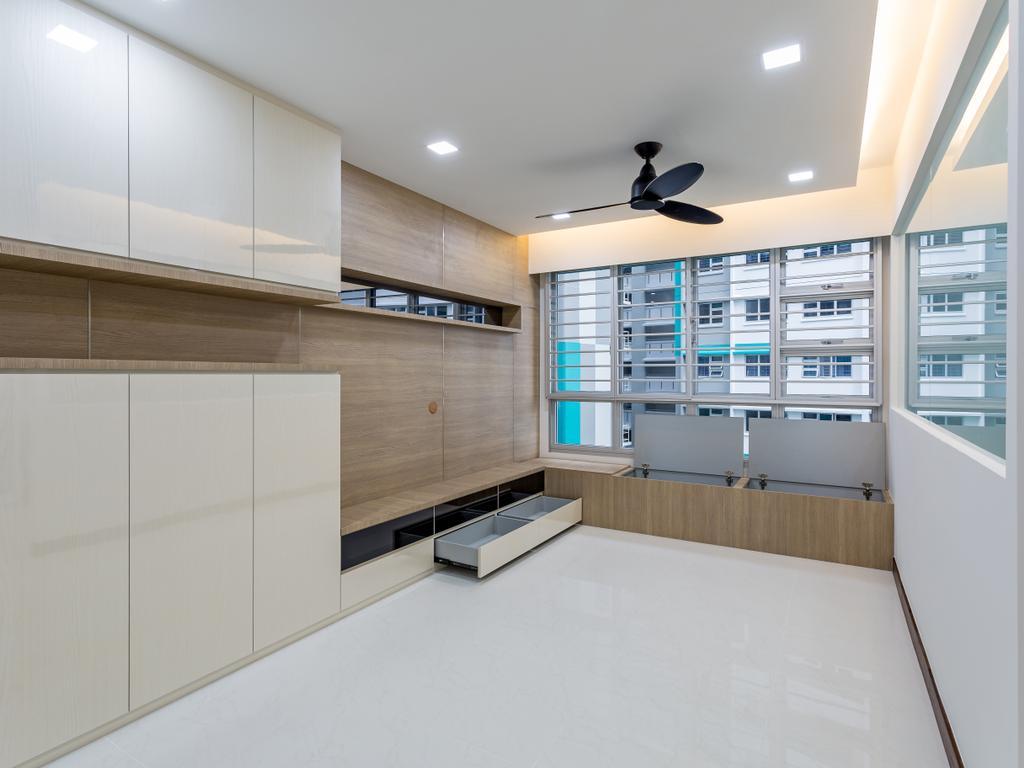 Modern, HDB, Woodlands Rise, Interior Designer, Design Story, Building, Housing, Indoors, Loft