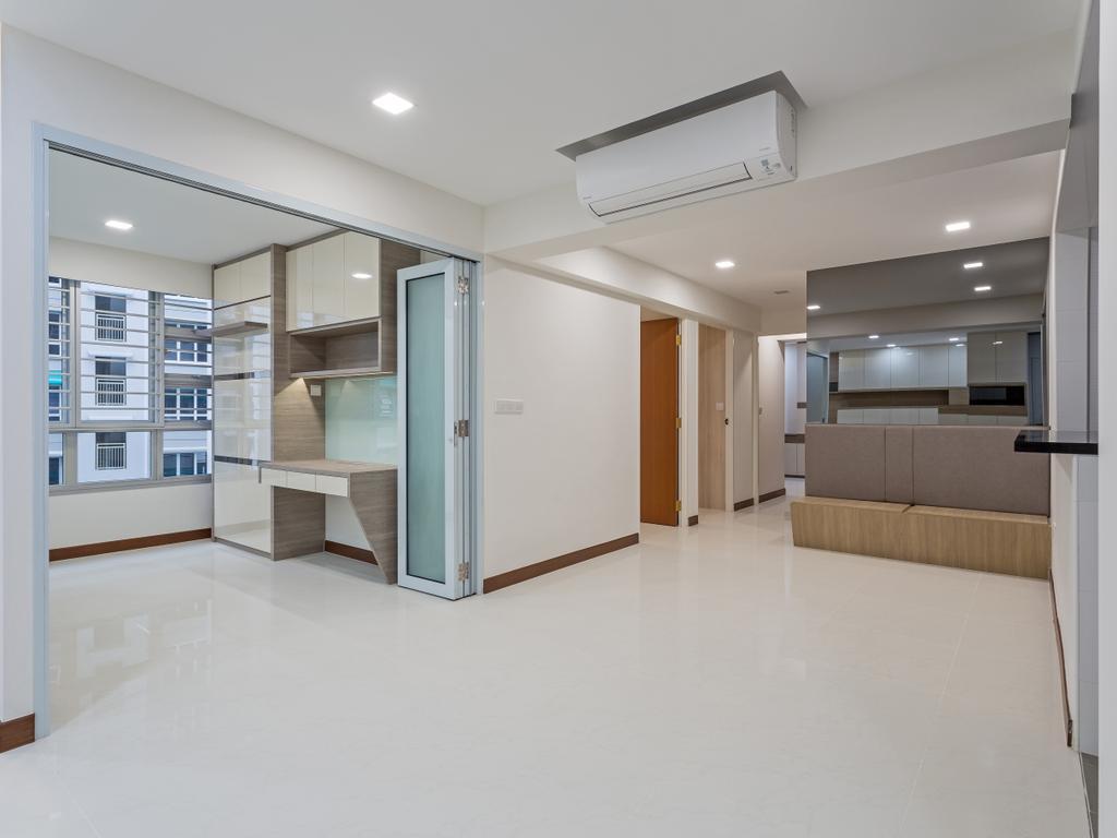 Modern, HDB, Woodlands Rise, Interior Designer, Design Story, Architecture, Building, Skylight, Window, Flooring, Housing, Indoors, Loft