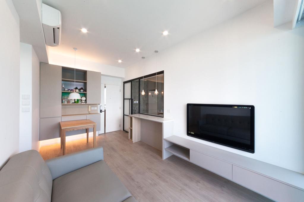 簡約, 私家樓, 客廳, 嘉華星濤灣, 室內設計師, monoo interior Limited, 當代, Indoors, Interior Design