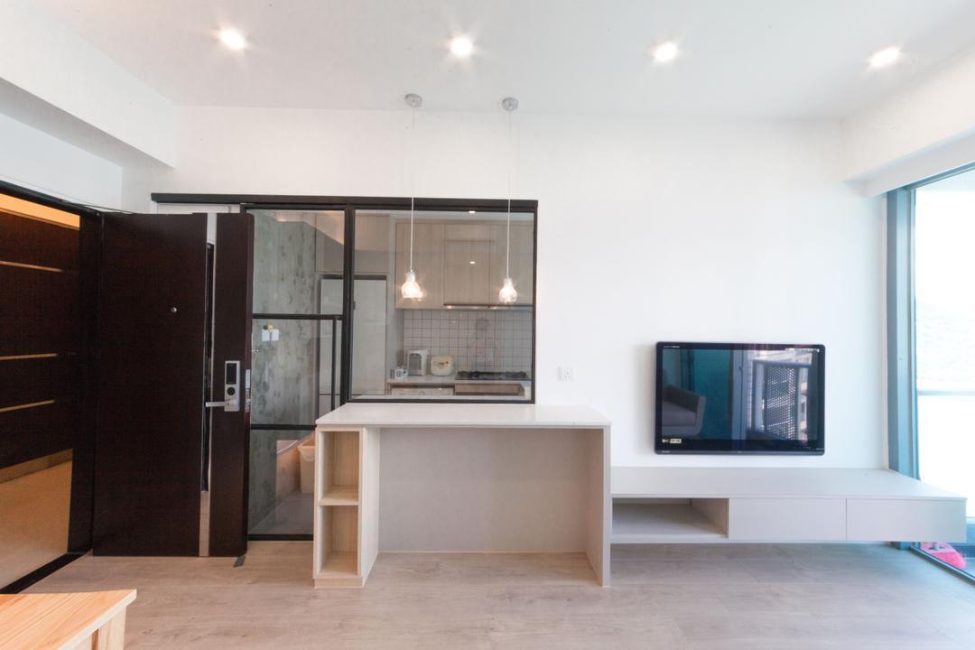 嘉華星濤灣, monoo interior Limited, 簡約, 當代, 客廳, 私家樓, Small Home, Appliance, Electrical Device, Microwave, Oven