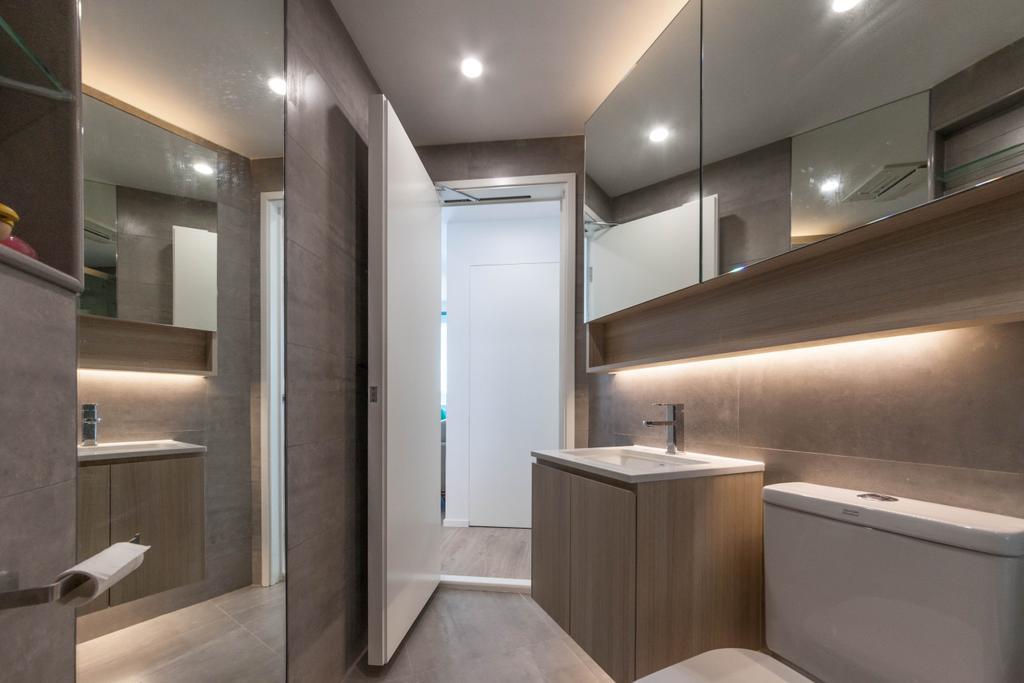 簡約, 私家樓, 浴室, 嘉華星濤灣, 室內設計師, monoo interior Limited, 當代, Toilet, Indoors, Interior Design