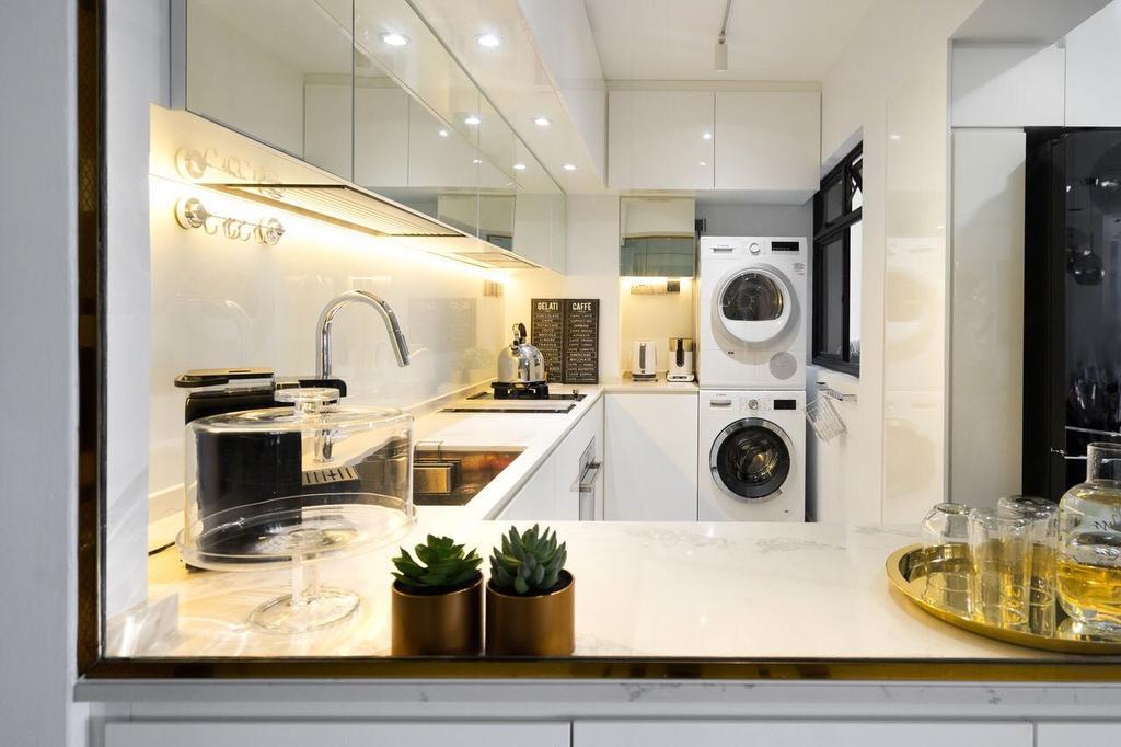 Modern, HDB, Tanglin Halt, Interior Designer, Fineline Design, Appliance, Electrical Device, Oven, Flora, Jar, Plant, Potted Plant, Pottery, Vase