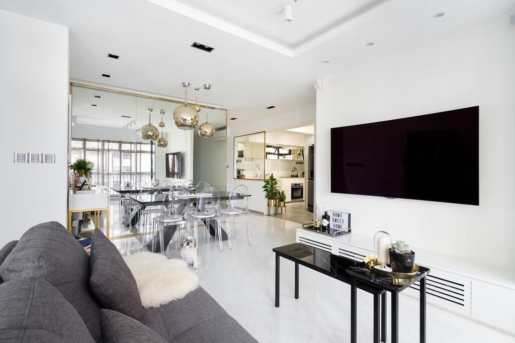 Modern, HDB, Living Room, Tanglin Halt, Interior Designer, Fineline Design, Sink, Electronics, Lcd Screen, Monitor, Screen, Indoors, Interior Design, Building, Housing