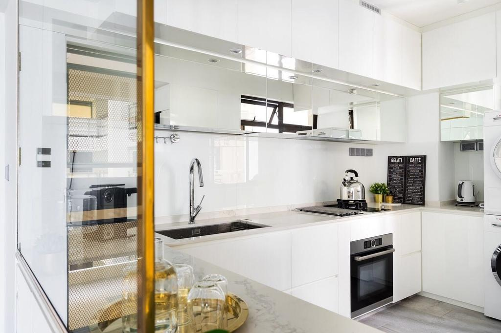 Modern, HDB, Kitchen, Tanglin Halt, Interior Designer, Fineline Design, Appliance, Electrical Device, Oven, Building, Housing, Indoors, Loft