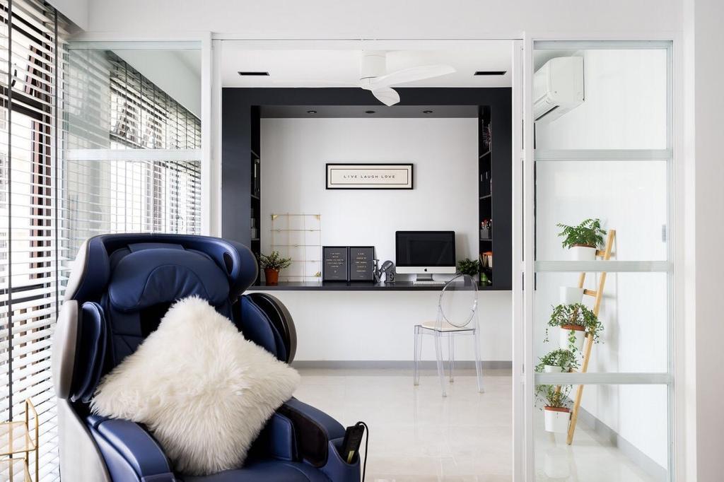 Modern, HDB, Tanglin Halt, Interior Designer, Fineline Design, Chair, Furniture