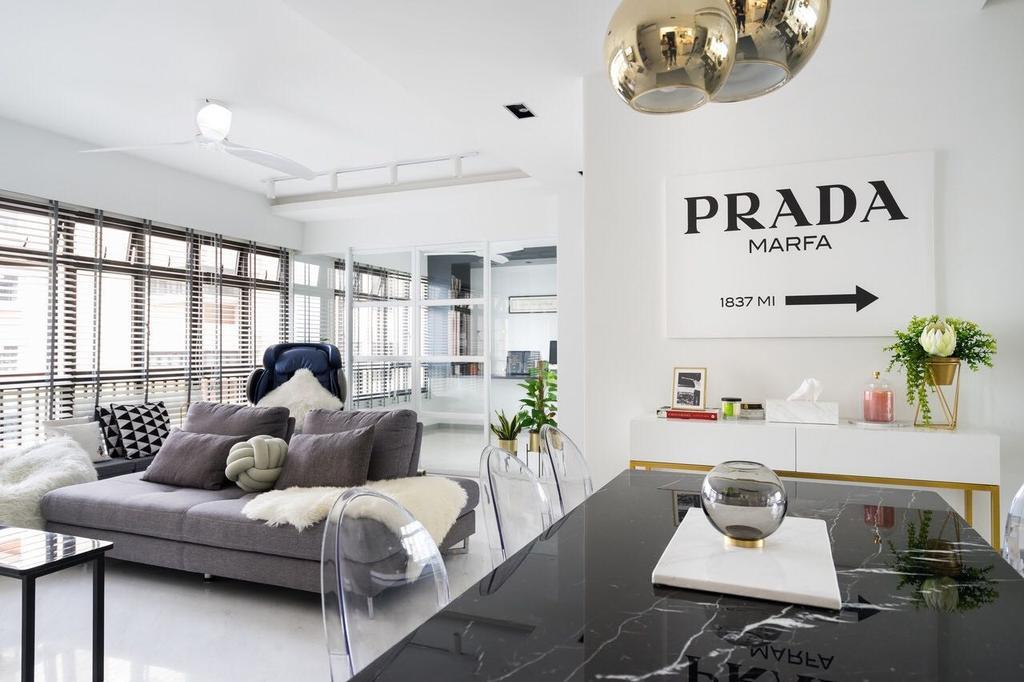 Modern, HDB, Dining Room, Tanglin Halt, Interior Designer, Fineline Design, Flora, Jar, Plant, Potted Plant, Pottery, Vase
