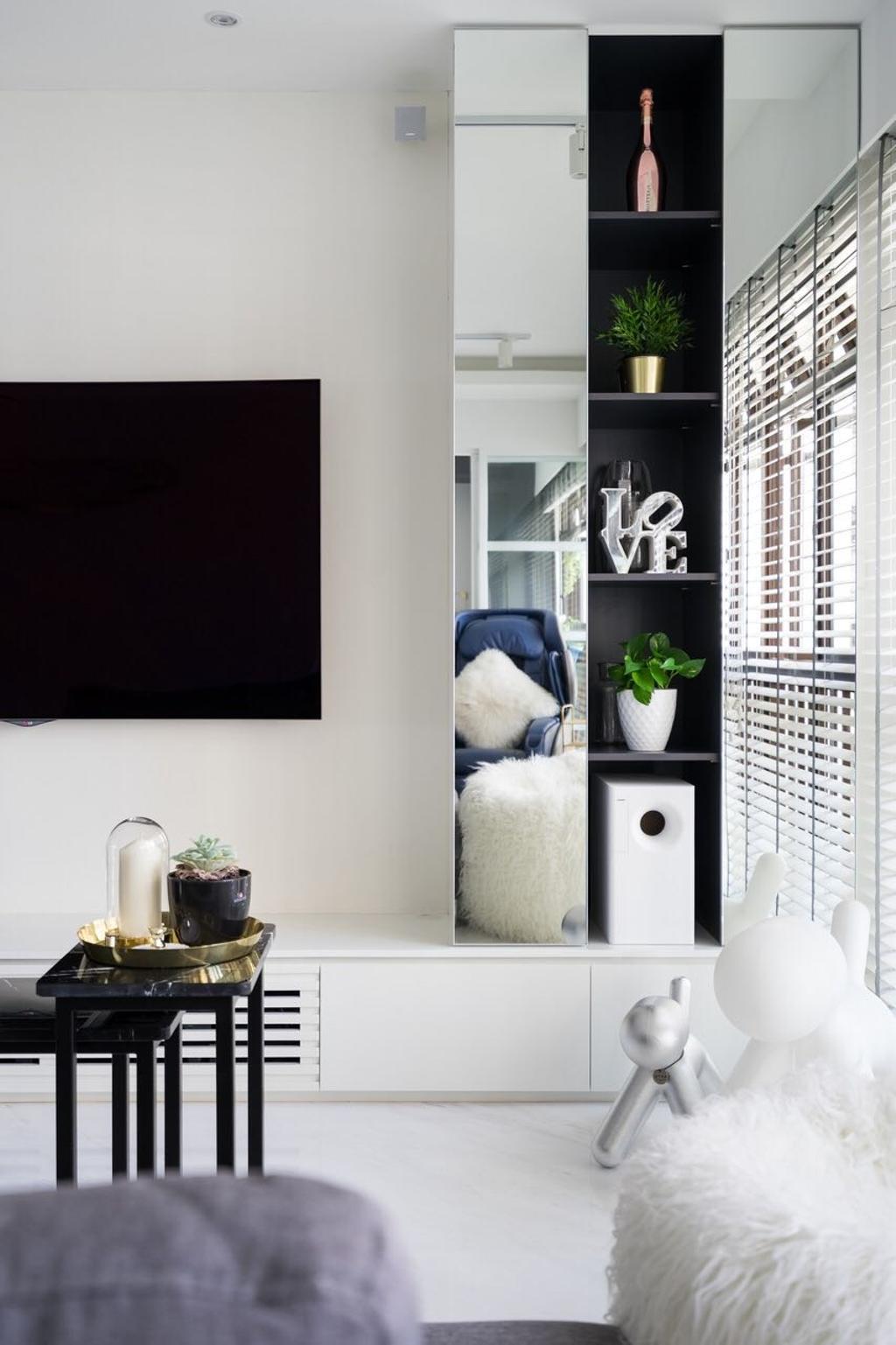 Modern, HDB, Living Room, Tanglin Halt, Interior Designer, Fineline Design