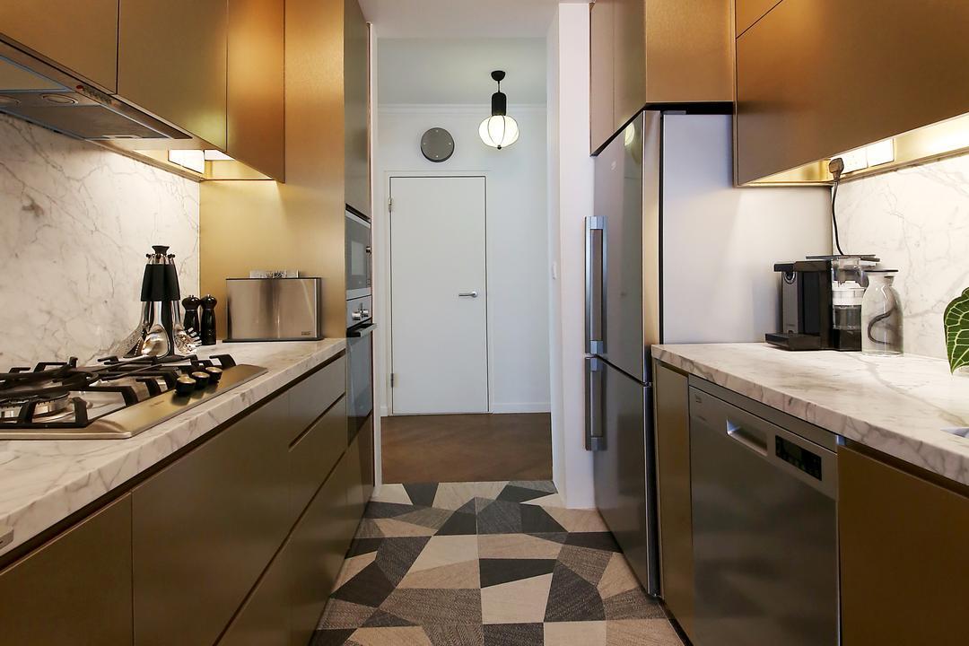Bendemeer Road, D Initial Concept, Eclectic, Kitchen, HDB, Indoors, Interior Design, Room, Carpet, Home Decor, Flooring