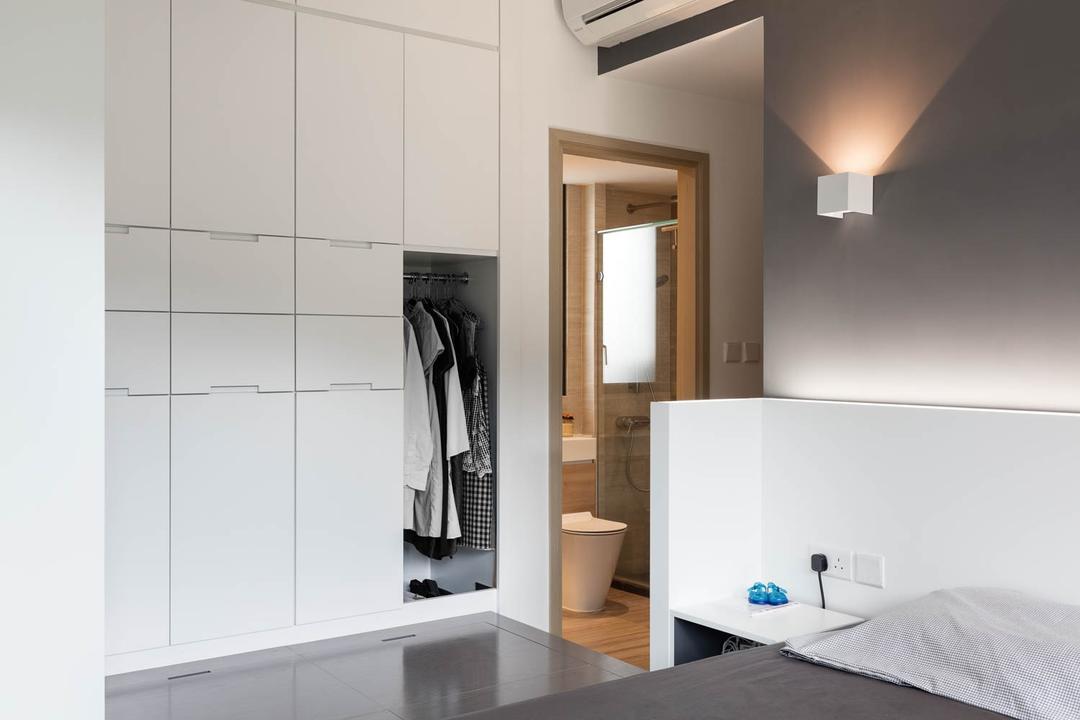 玖瓏山, Fixonic Interior Design & Construction, 北歐, 睡房, 私家樓, Wardrobe, Cupboard, Closet, Furniture