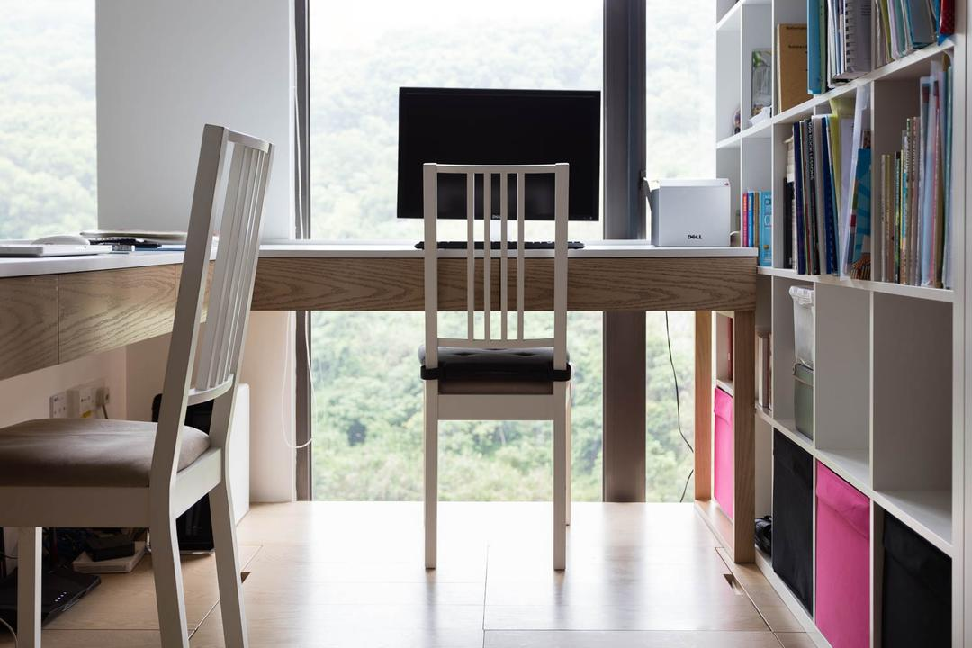 玖瓏山, Fixonic Interior Design & Construction, 北歐, 書房, 私家樓, Chair, Furniture, Shelf, Bookcase