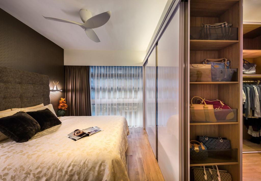 Contemporary, Condo, Bedroom, Hedges Park, Interior Designer, Ciseern, Bed, Furniture, Hardwood, Wood, Indoors, Interior Design, Room, Cabinet, China Cabinet
