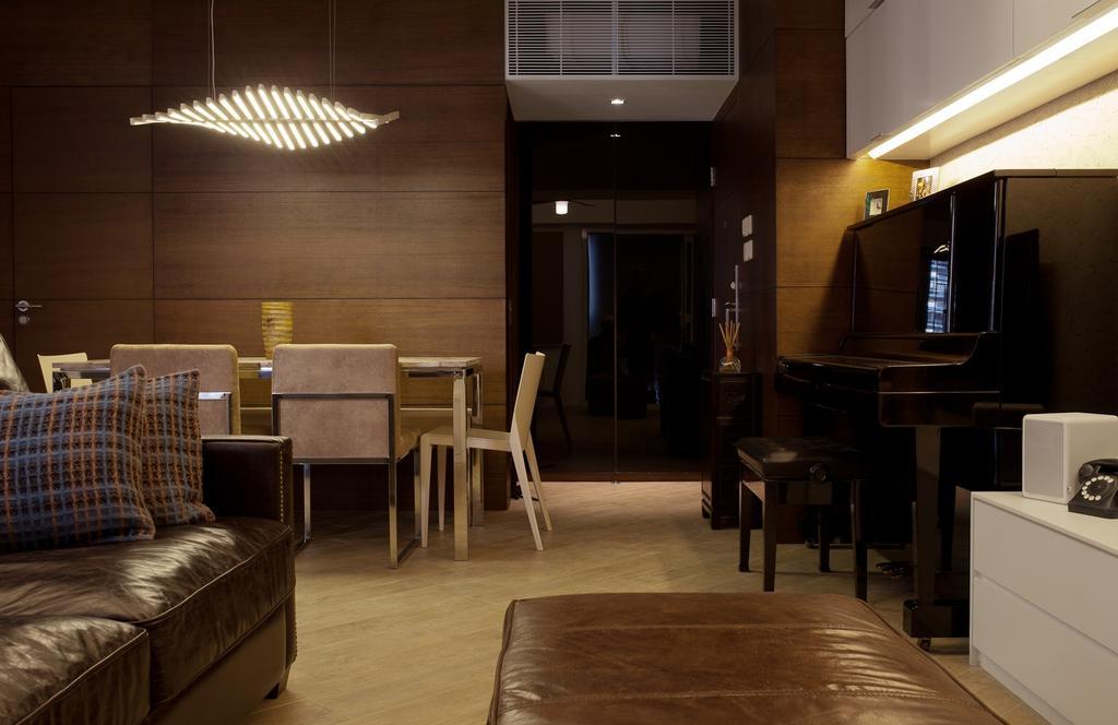 私家樓, 飯廳, 宇宙閣, 室內設計師, Fixonic Interior Design & Construction, Couch, Furniture, Chair, Dining Table, Table, Bench