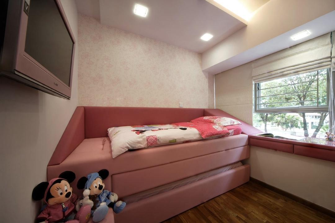 Calrose 2, Yonder, Modern, Bedroom, Condo, Down Light, Cove Light, Blinds, Double Decker Bed, Parquet, Tv, Window