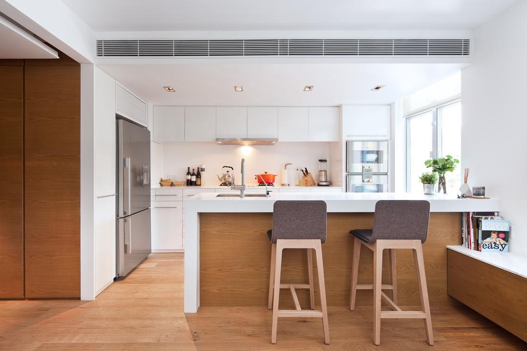 置富花園, Fixonic Interior Design & Construction, 廚房, 私家樓, Kitchen Island, Open Concept, Open Kitchen, Bar Stool, Furniture, 飯廳, Indoors, Interior Design, Room