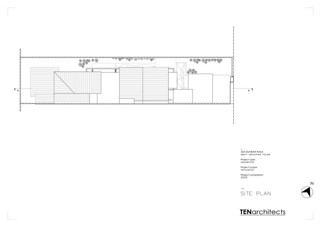 Modern, Landed, 25A Dunbar Walk, Architect, TENarchitects, Floor Plan, Diagram, Plan