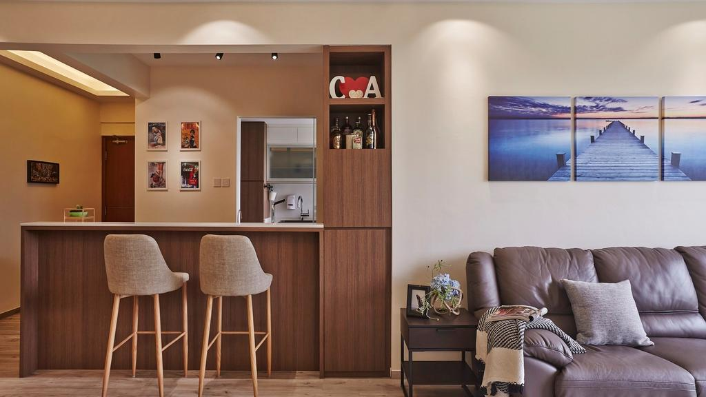 Scandinavian, Condo, Dining Room, Fortune Jade, Interior Designer, Noble Interior Design, Chair, Furniture, Bar Stool, Indoors, Interior Design, Room, Bedroom, Couch