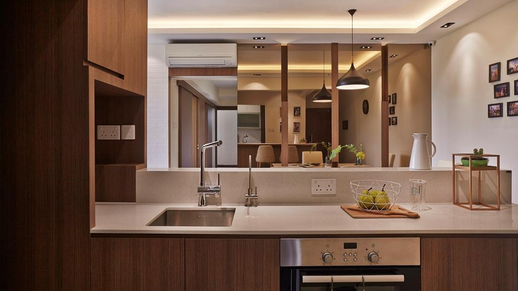 Scandinavian, Condo, Kitchen, Fortune Jade, Interior Designer, Noble Interior Design, Indoors, Interior Design, Room, Sink