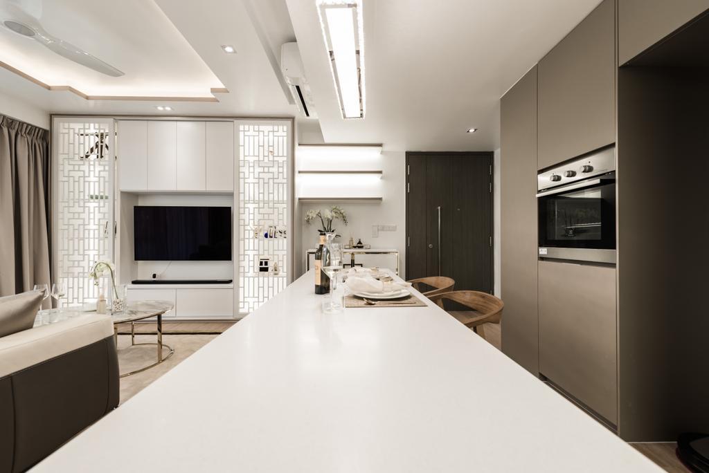 Modern, Condo, Kitchen, Bellewaters, Interior Designer, Mr Shopper Studio, Appliance, Electrical Device, Oven, Indoors, Room, Interior Design