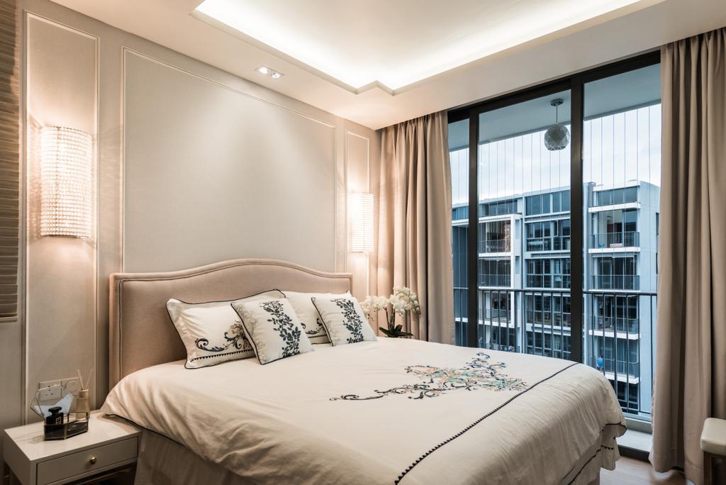 Modern, Condo, Bedroom, Bellewaters, Interior Designer, Mr Shopper Studio, Bed, Furniture, Indoors, Interior Design, Room