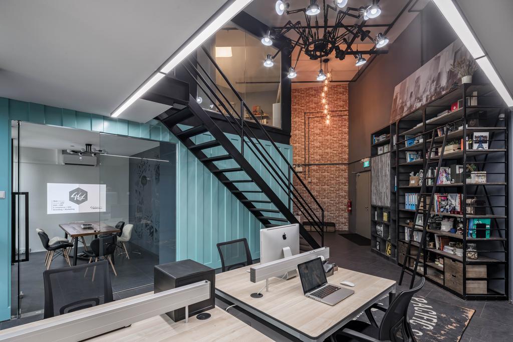 Ubi Road, Commercial, Interior Designer, Weiken.com, Industrial, Light Fixture, Coffee Table, Furniture, Table, Chandelier, Lamp, Indoors, Interior Design