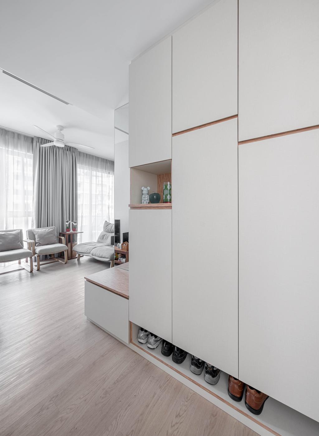 Scandinavian, Condo, Living Room, The Vales, Interior Designer, Weiken.com