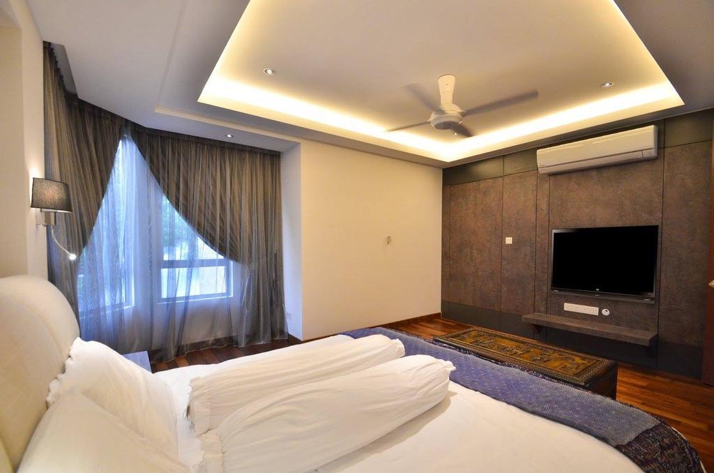 Minimalist, Landed, Bedroom, Villa Aseana, Interior Designer, Mega Fusion Design Studio, Bed, Furniture, Indoors, Room, Electronics, Entertainment Center