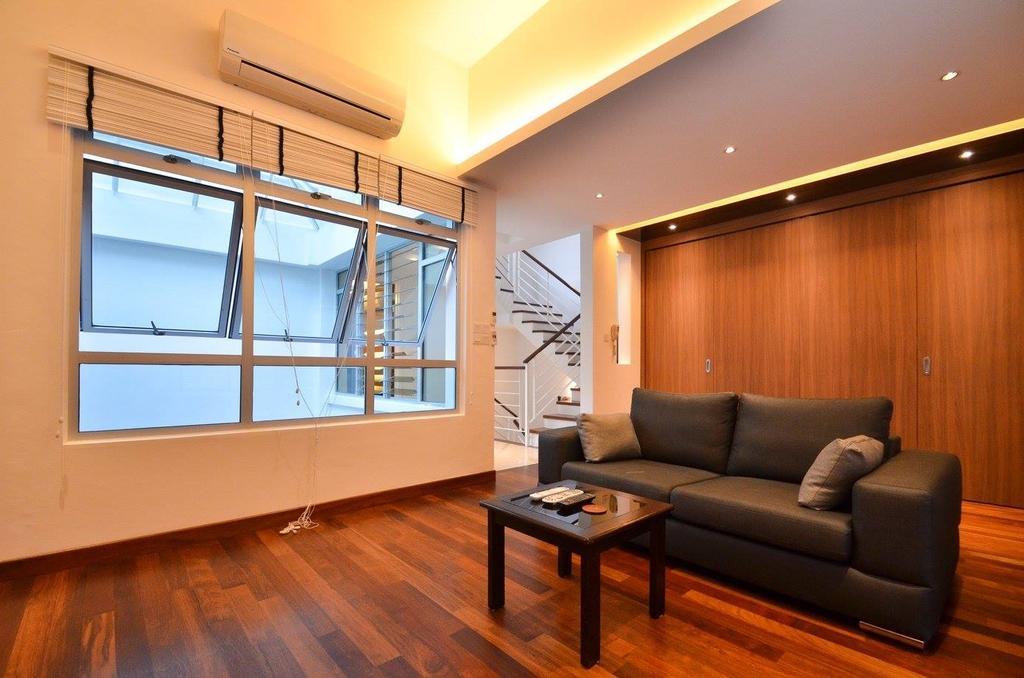 Minimalist, Landed, Living Room, Villa Aseana, Interior Designer, Mega Fusion Design Studio, Couch, Furniture, Coffee Table, Table, Apartment, Building, Housing, Indoors, Room