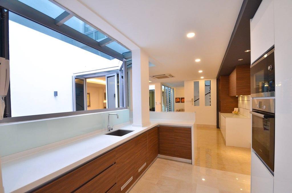 Minimalist, Landed, Kitchen, Villa Aseana, Interior Designer, Mega Fusion Design Studio, Indoors, Interior Design, Flooring, Awning, Canopy