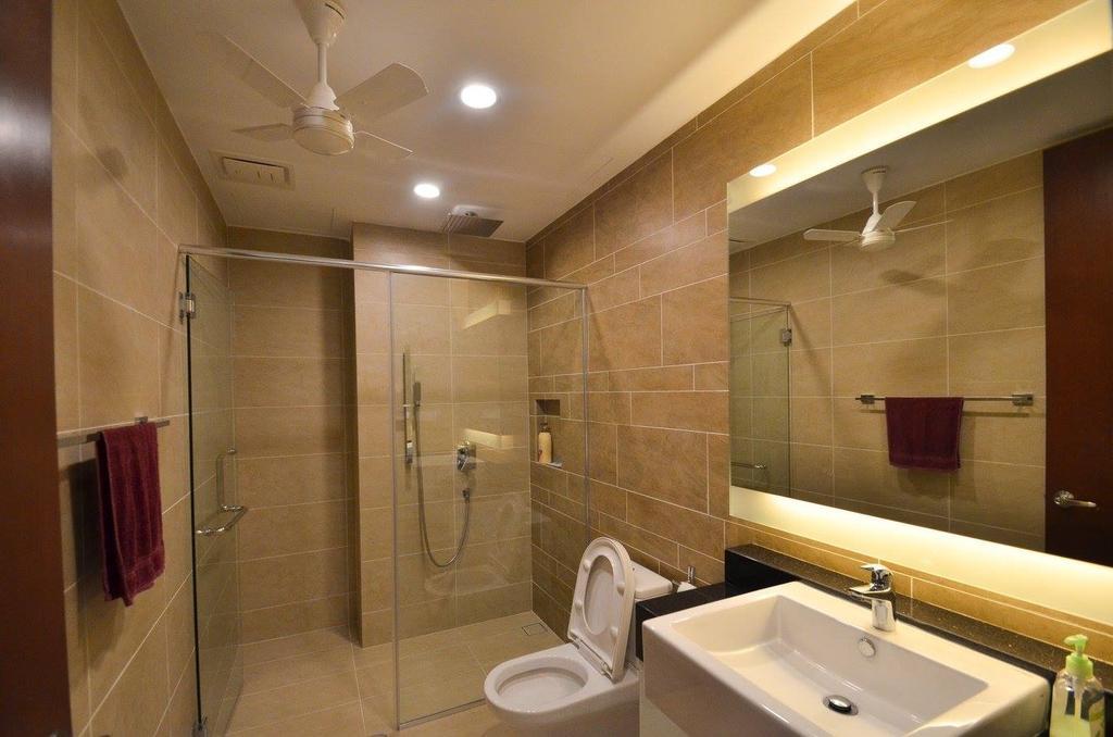 Minimalistic, Landed, Bathroom, Villa Aseana, Interior Designer, Mega Fusion Design Studio, Toilet, Indoors, Interior Design, Room, Apartment, Building, Housing