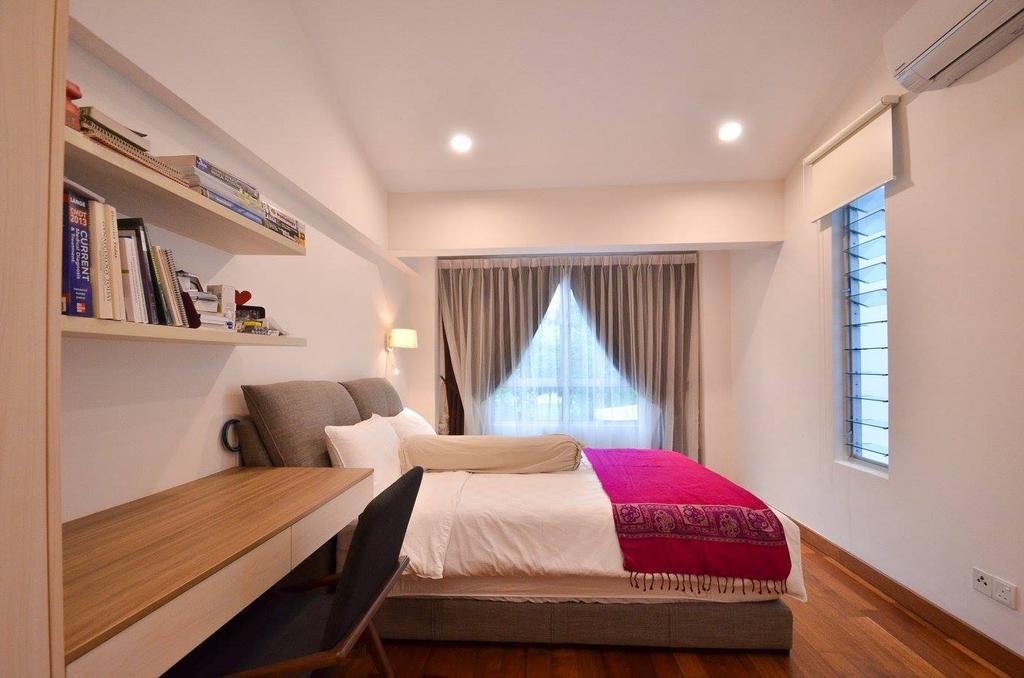 Minimalist, Landed, Bedroom, Villa Aseana, Interior Designer, Mega Fusion Design Studio, Couch, Furniture, Bed, Indoors, Interior Design, Room