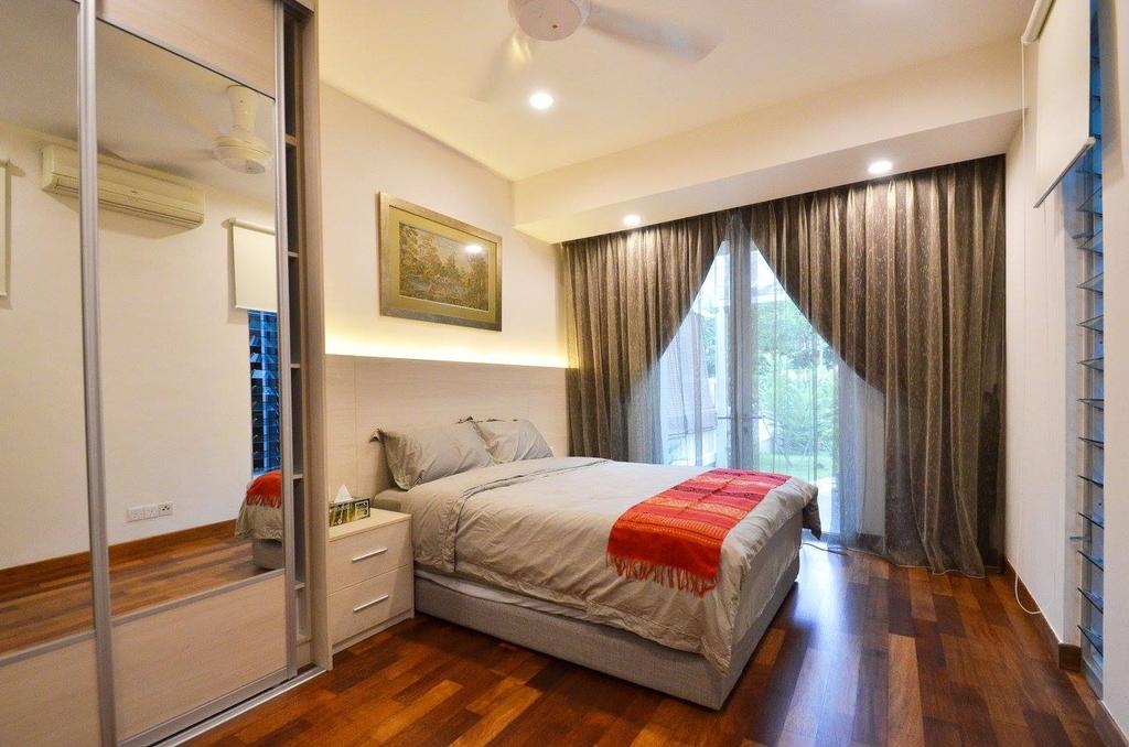 Minimalist, Landed, Bedroom, Villa Aseana, Interior Designer, Mega Fusion Design Studio, Molding, Indoors, Interior Design, Room, Couch, Furniture