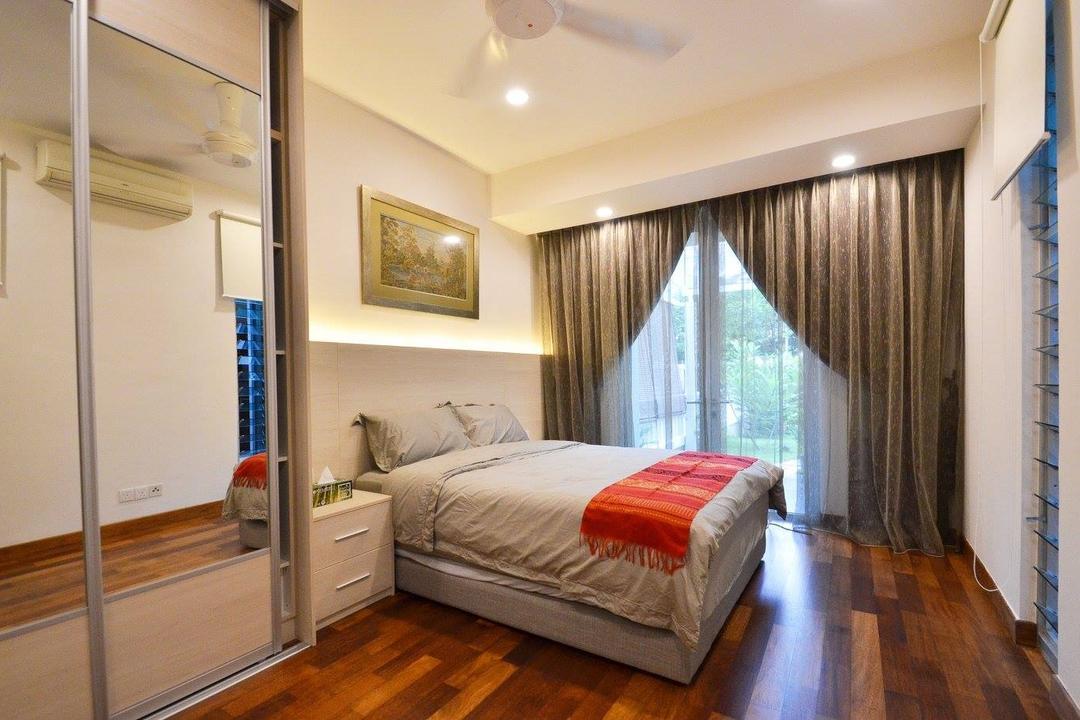 Villa Aseana, Mega Fusion Design Studio, Minimalist, Bedroom, Landed, Molding, Indoors, Interior Design, Room, Couch, Furniture