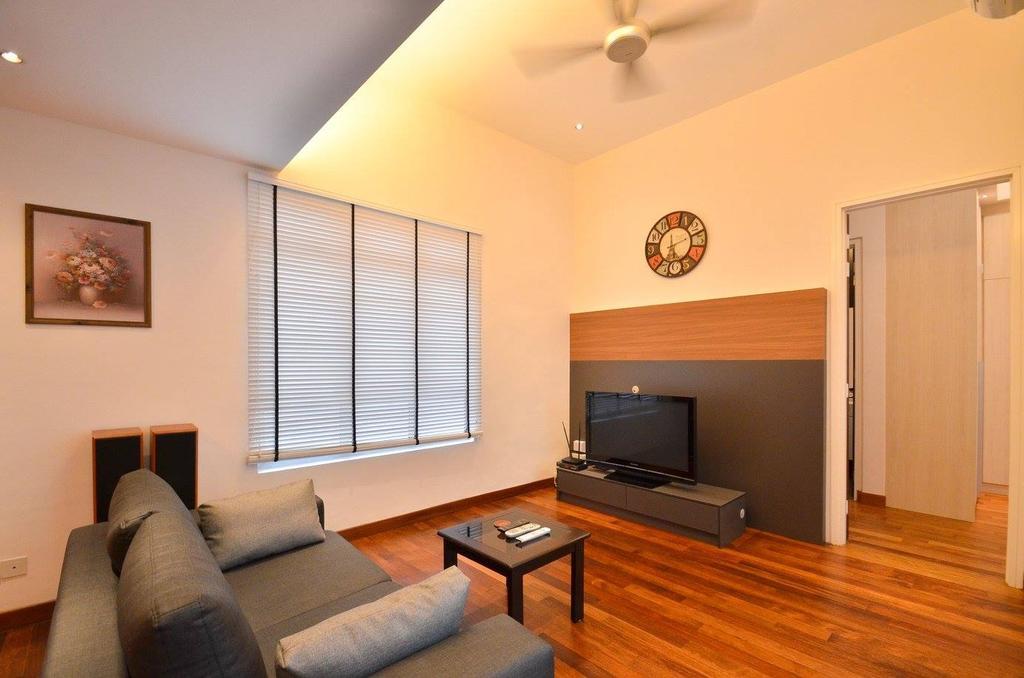 Minimalist, Landed, Living Room, Villa Aseana, Interior Designer, Mega Fusion Design Studio, Couch, Furniture, Indoors, Room, Art, Painting