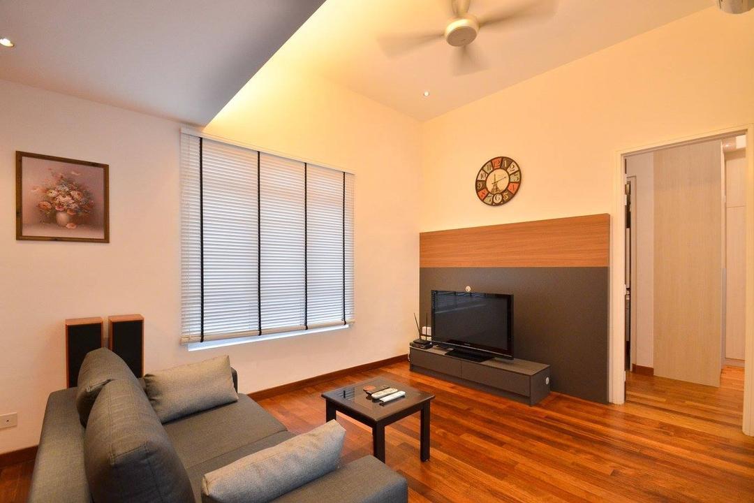 Villa Aseana, Mega Fusion Design Studio, Minimalist, Living Room, Landed, Couch, Furniture, Indoors, Room, Art, Painting