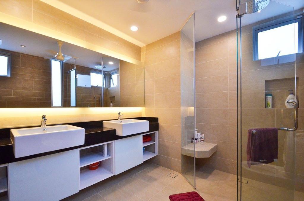 Minimalist, Landed, Bathroom, Villa Aseana, Interior Designer, Mega Fusion Design Studio, Luggage, Suitcase, Indoors, Interior Design