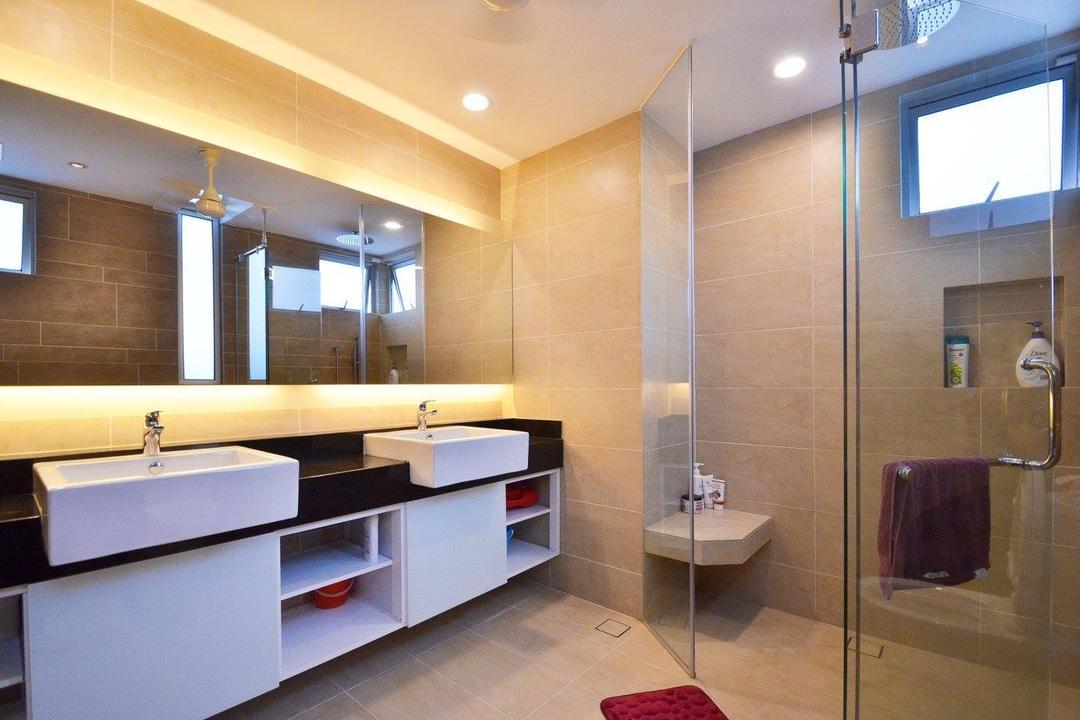 Villa Aseana, Mega Fusion Design Studio, Minimalistic, Bathroom, Landed, Luggage, Suitcase, Indoors, Interior Design