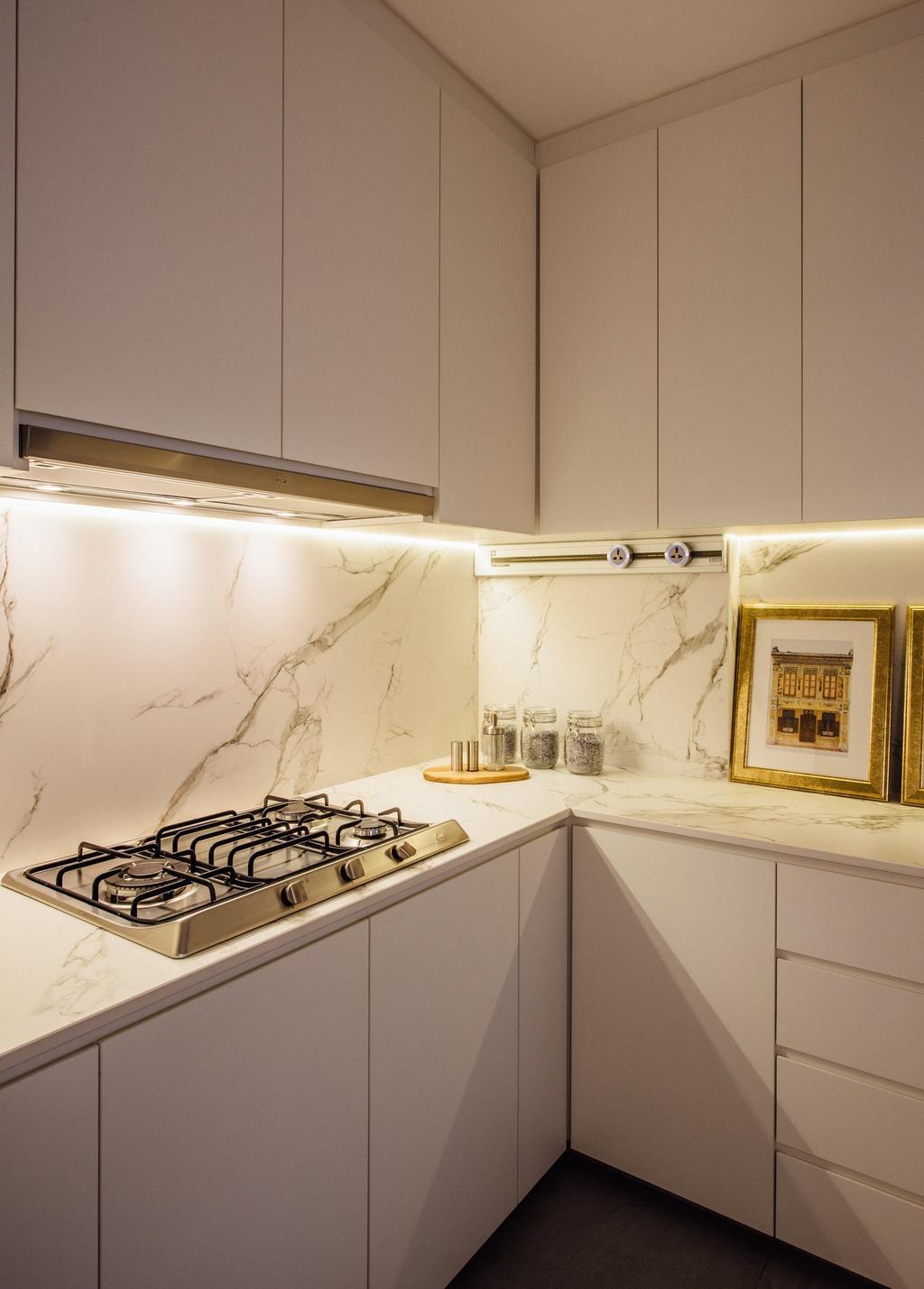 Contemporary, HDB, Kitchen, Tampines Street 72, Interior Designer, Fatema Design Studio
