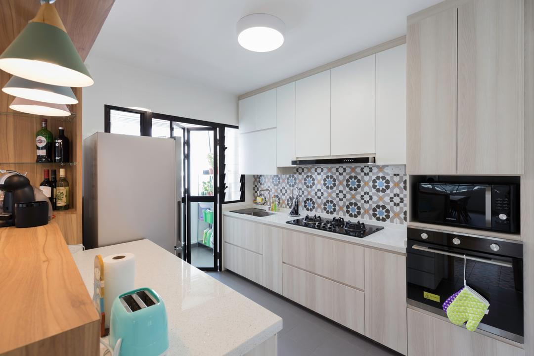 Fernvale Link (Block 418C), Starry Homestead, Scandinavian, Kitchen, HDB, Appliance, Electrical Device, Toaster, Oven