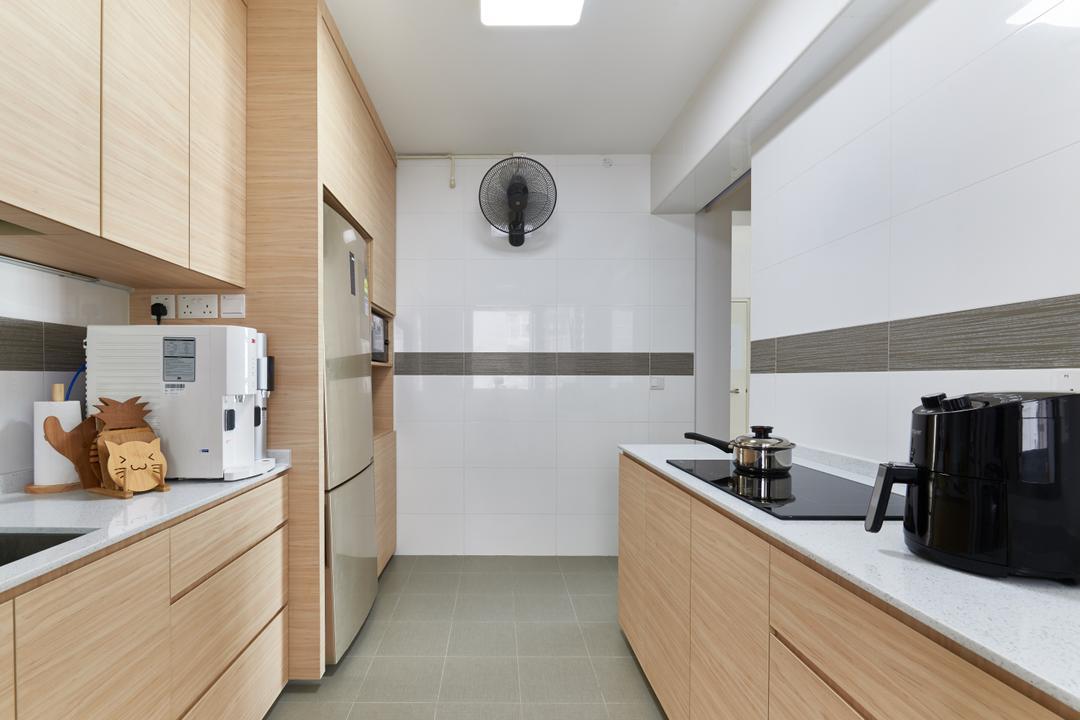 Yung Kuang Road, INCLOVER DESIGN, Scandinavian, Kitchen, HDB, Indoors, Interior Design, Room, Cardboard